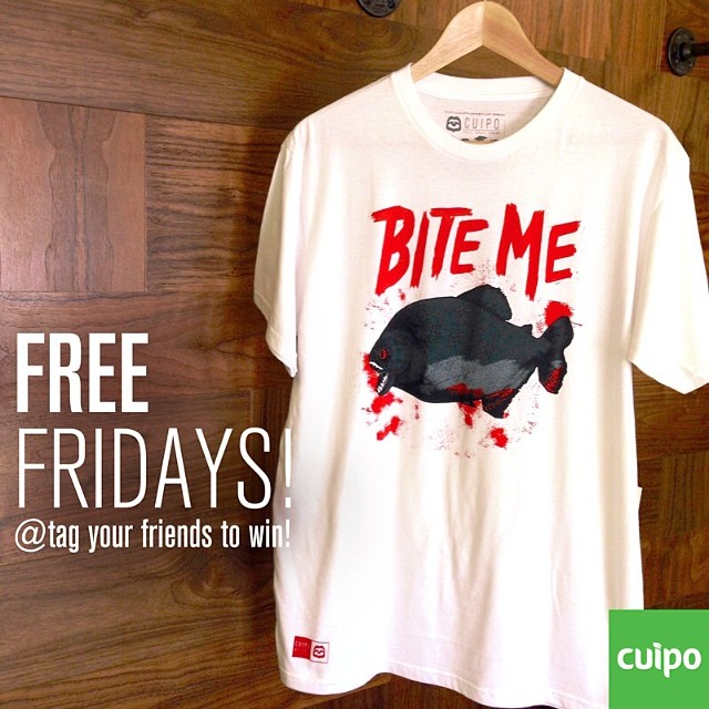 FREE FRIDAY!!! Tag your friends to win!!! #biteme #cuipo #saverainforest