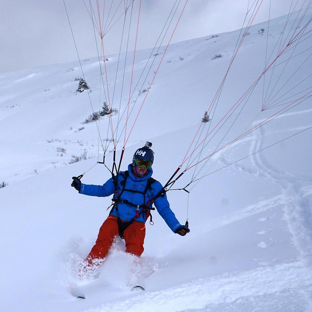 #Speedriding is skiing with a speed wing (a small paraglider). It is very conditions dependent, and takes quite a bit of training in both #skiing and flying.  However, when everything lines up correctly, speed riding is an incredible way to get in the...