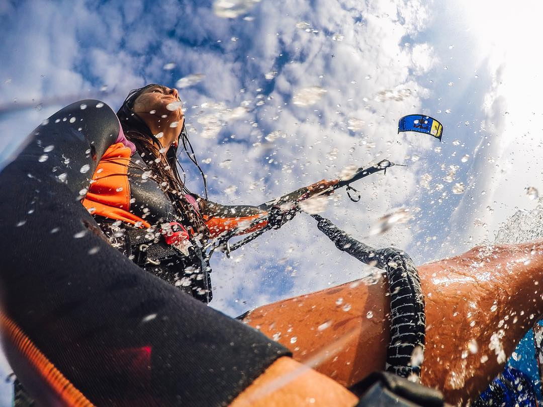 Photo of the Day! @giselapulido rips it during a #NitroCity #kiteboarding sesh! #GoPro #GoProGirl