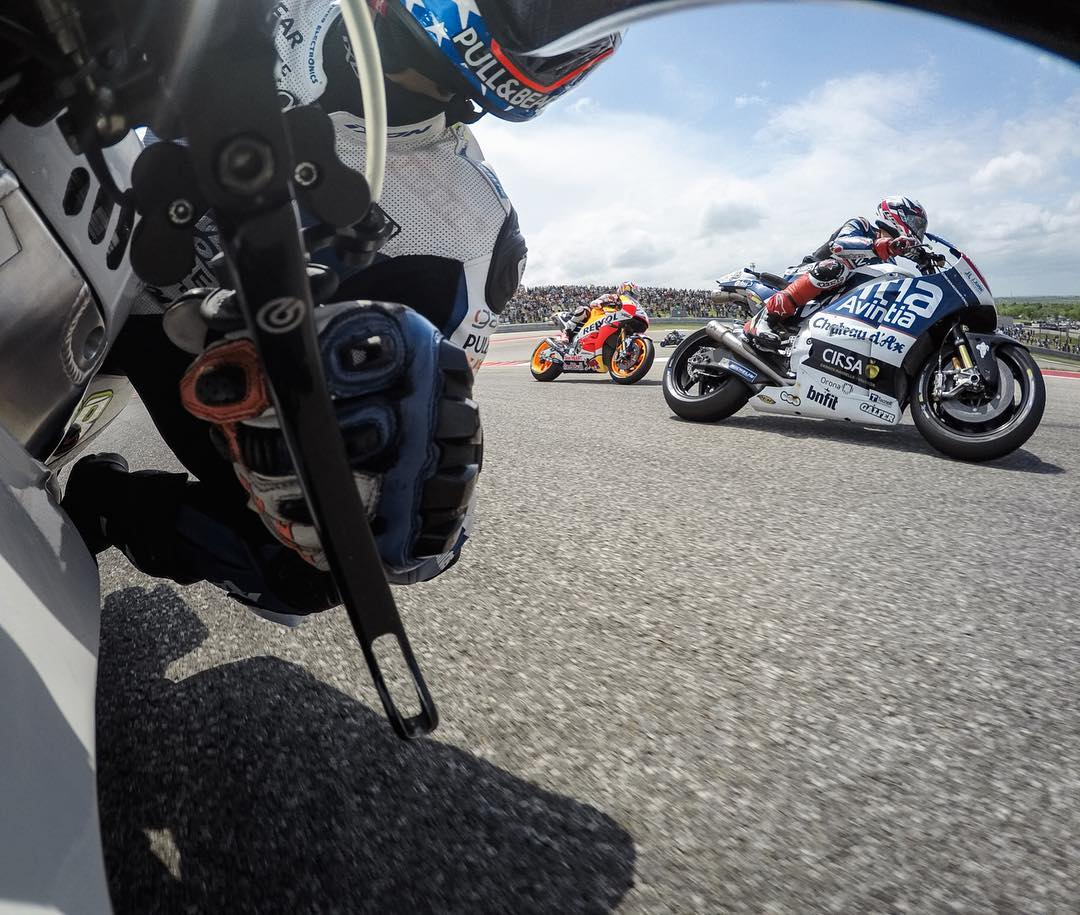 Turning + burning with @motogp during an intense race at @cota_official last weekend! #GoPro #MotoGP #AmericasGP