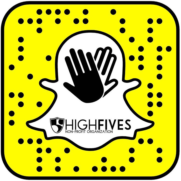 Get at us! Yes. The High Five Foundation has joined the Snap game. Username// Hi5sfoundation