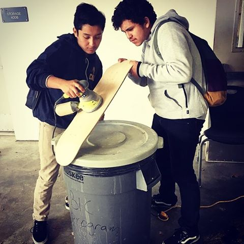 Sending a shout out to our @stoked_la Year 2 students who are hard at work building their boards and creating their brand! Follow their progress at @septicsociety_ and watch how they are getting STOKED!