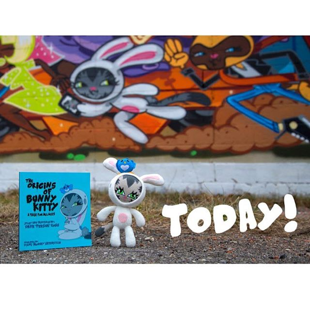 "My buddy/graffiti artist Dave ""Persue"" Ross (@persue1), has an awesome character called Bunny Kitty. And now, after years in the making, ""The Origins of BunnKitty"" book and other BK related products will be available on www.bunnykitty.com! Be sure to..."
