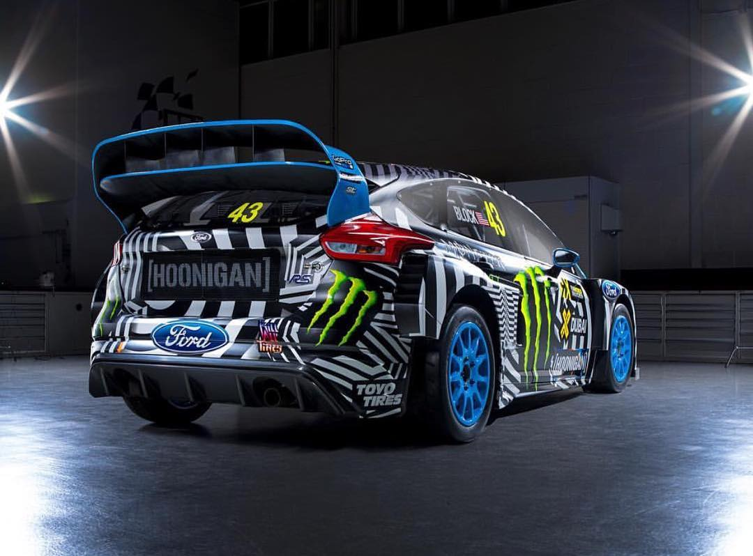 Rear shot of @kblock43's new Ford Focus RS RX. Ready to debut this weekend for the @fiaworldrx season opener. Want to see more? Click the link in our bio! #hooniganDOTcom #focusRS