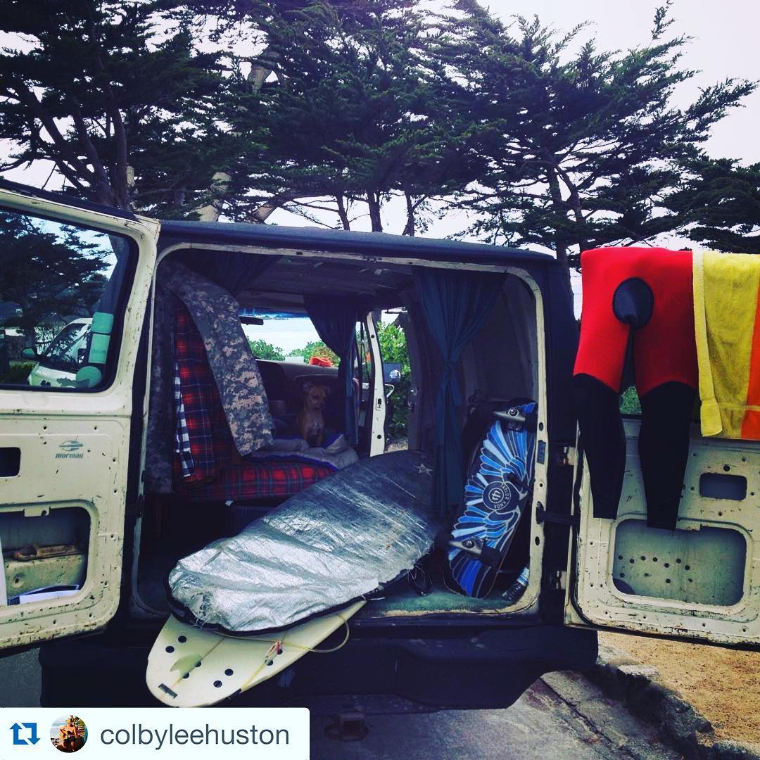 #Repost @colbyleehuston with @repostapp. ・・・ Back to basics #motorhomeless  #surfmusiclifestyle #meandmydog #carverskateboards #californiacentralcoast