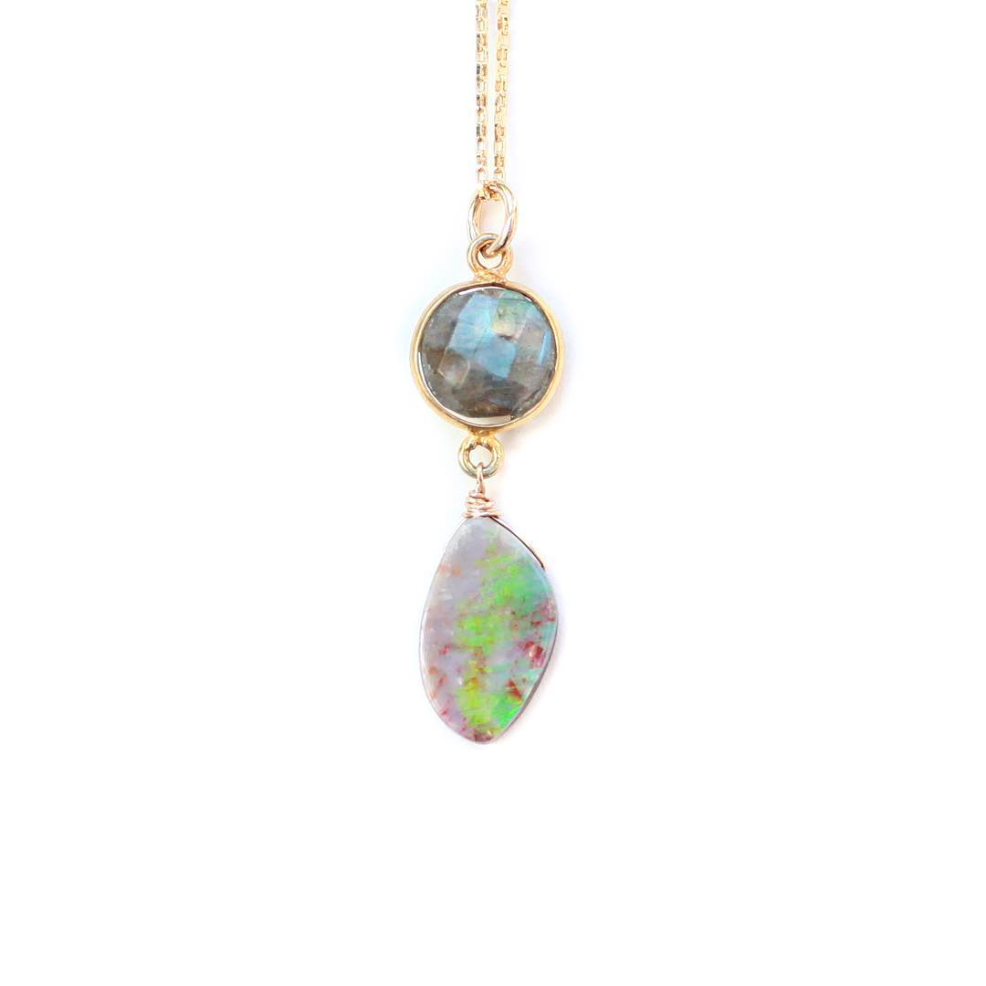 Mornings with Opals.  Limited editions and one of a kinds in the shop! They are going fast!  #juliaszendrei #mothersday #opals #marin #design #aprilshowers #labradorite #labradoodle @theendyuccavalley
