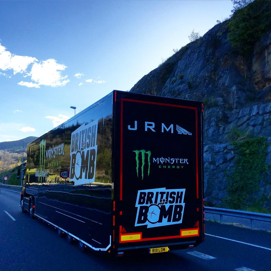 Road tripping with the JRM World RX Team on our way to Rnd1 of @fiaworldrx in Portugal  #roadtrip #spain #portugal #worldrx #semitruck #artic #articlorry #transporter #racetransporter #semi #trailer #mountains #mini #jrm