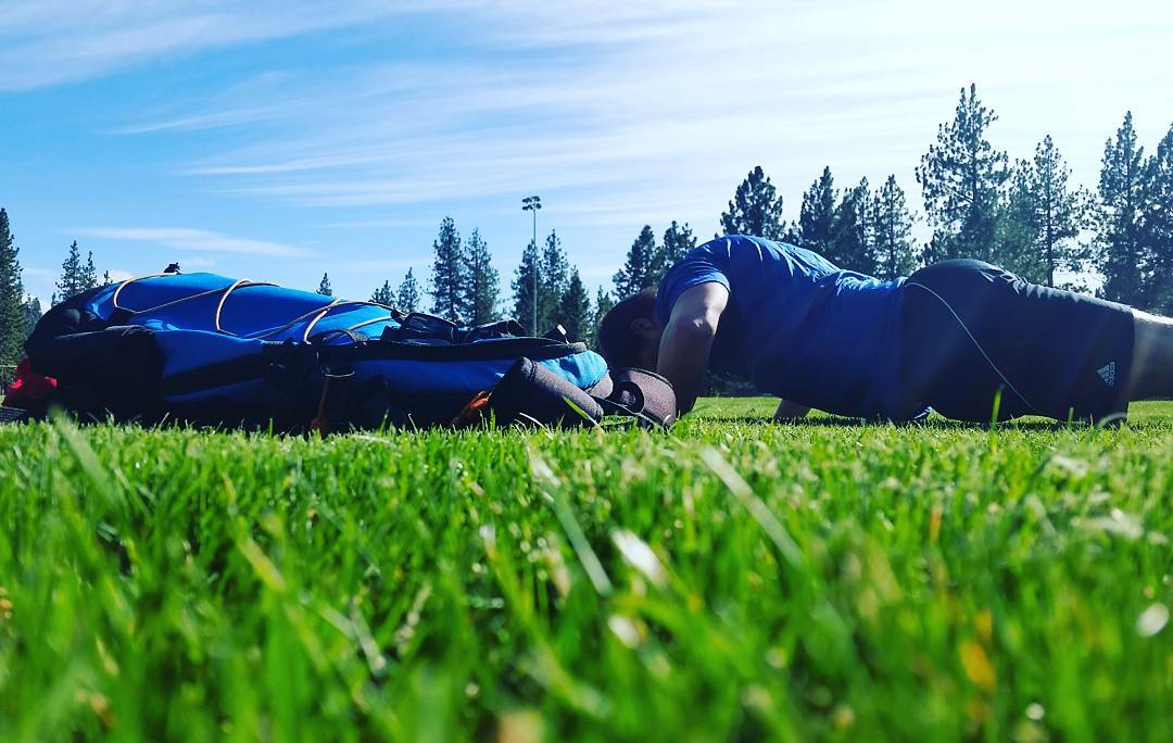 Get outside and get active! Nice to have the field to ourselves too. #getoutside #getfit #whatsyour20 #tahoe #backpacks #coolers #graniterocx #outdoorsrocx