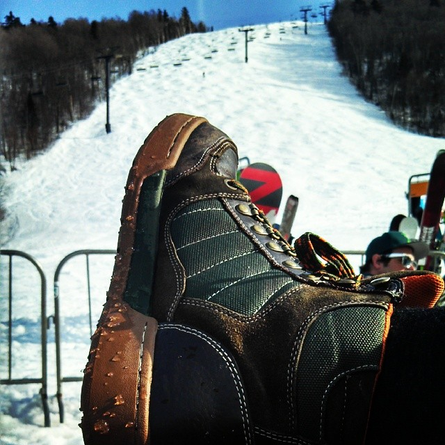 Sun and slush. Can't beat that. @killingtonmtn