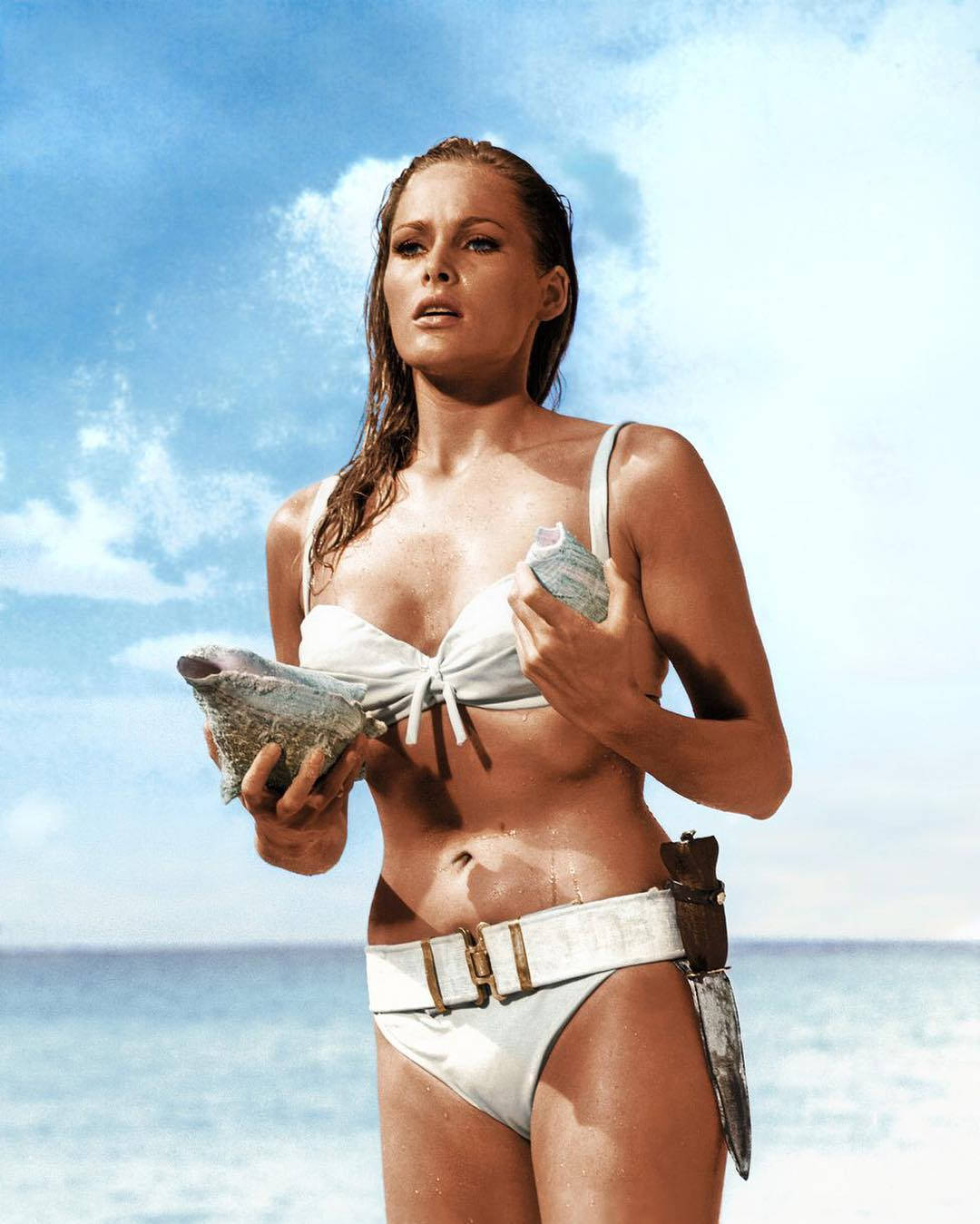 #JAPHYgal Ursula Andress with tools of the trade for 007.  @japhysurfco #japhysurfco #japhycrew #wcw #swimwear #beachbum #retro #inspiration #classic #menswear #surf #menswear #surfing  Live #BurntandBarefoot