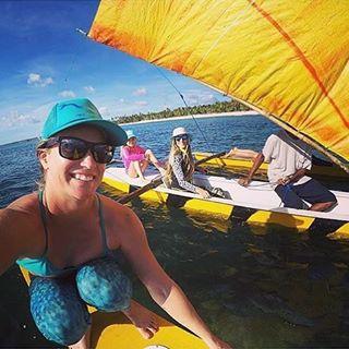 Afternoon cruzzzz ⚓️⛵️⚓️⛵️⚓️⛵️ #repost @paigealms #waterwomanwednesday #bigwave #mermaid #sailing #wcw #OKIINO