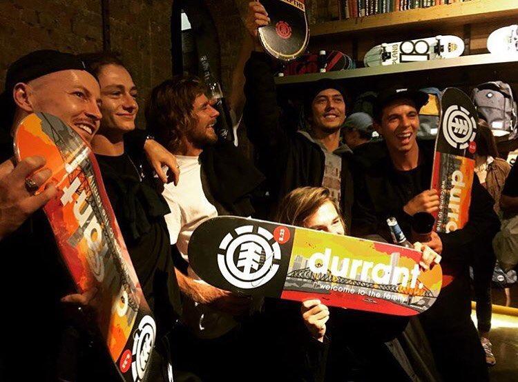 at the premiere of our #newworldelement episode, @elementaustralia announced @dennisdurrant to their pro team!