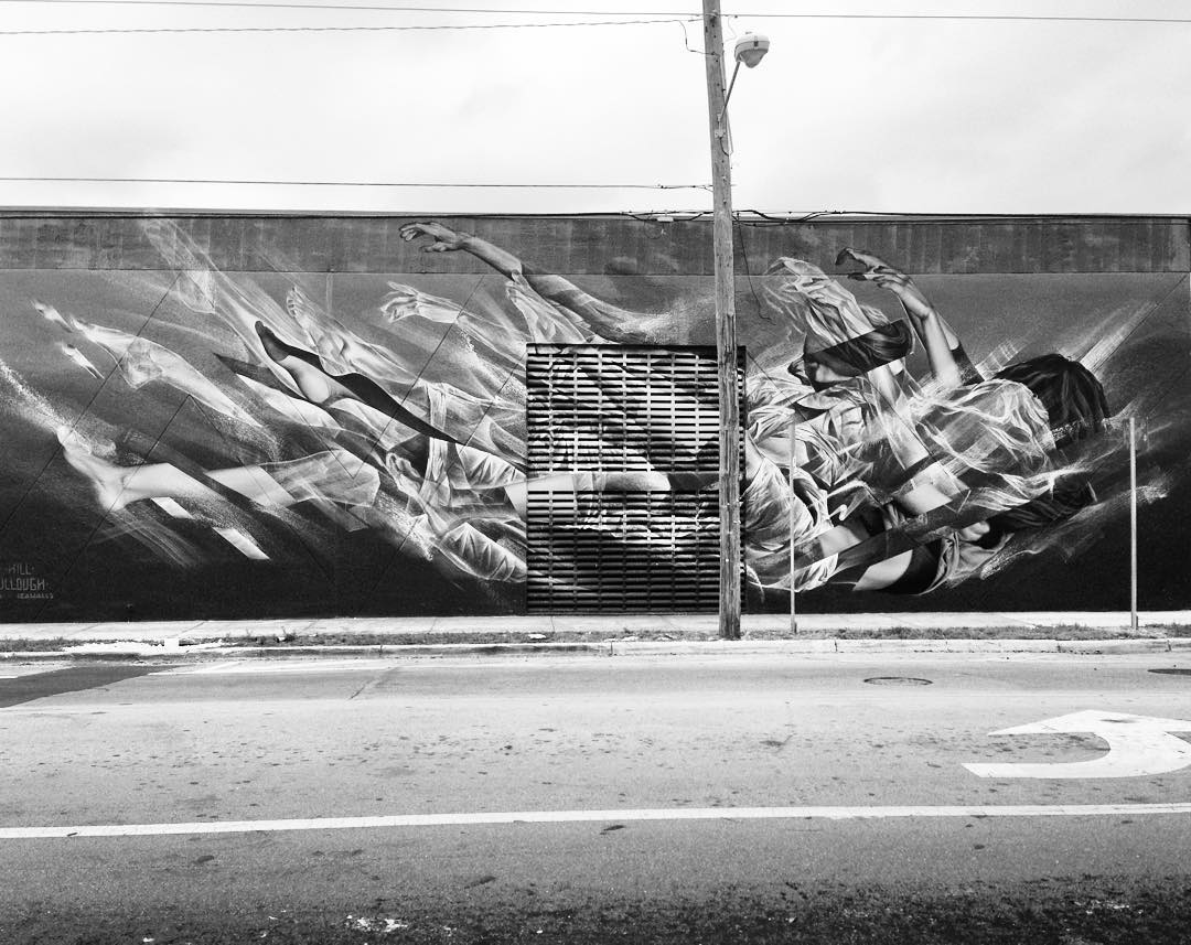 Finally got to see this mural finished last week in Wynwood. Looks incredible @james_bullough @li_hill #Wynwood #artbasel #miami #mural #streetart #lihill #jamesbullough