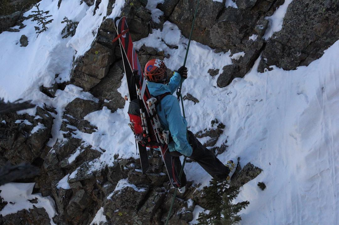 Have you ever rappelled in the middle of a ski line?  It is a pretty unique and exciting experience.  #Rappelling is just one example of the variety that ski mountaineering provides.  #Snow conditions can range from powder to wind board to corn and...