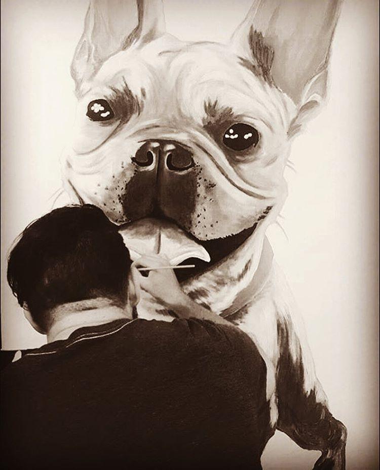 @byra_beast • • #atx #austintx #texas #tx #spratx #pup #commission #art