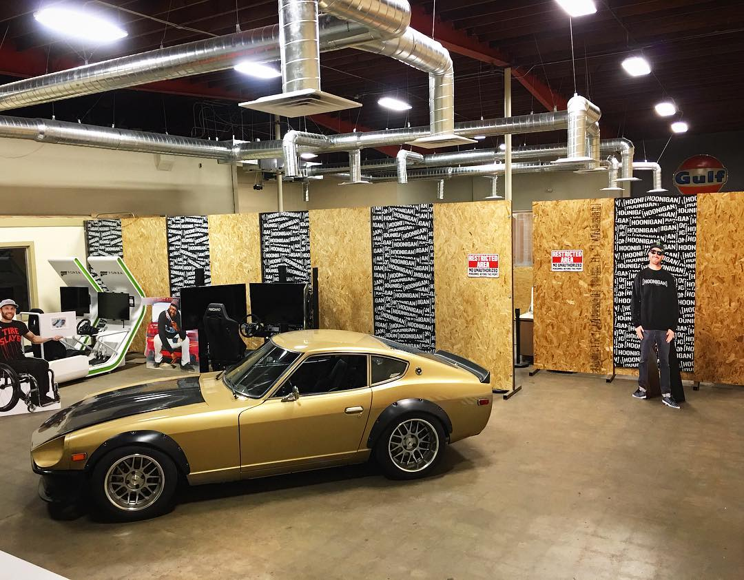 Yo @chrisforsberg64, the Datsun looks good in the Donut Garage lobby. Can we keep it? #cardboardsquad #datsun