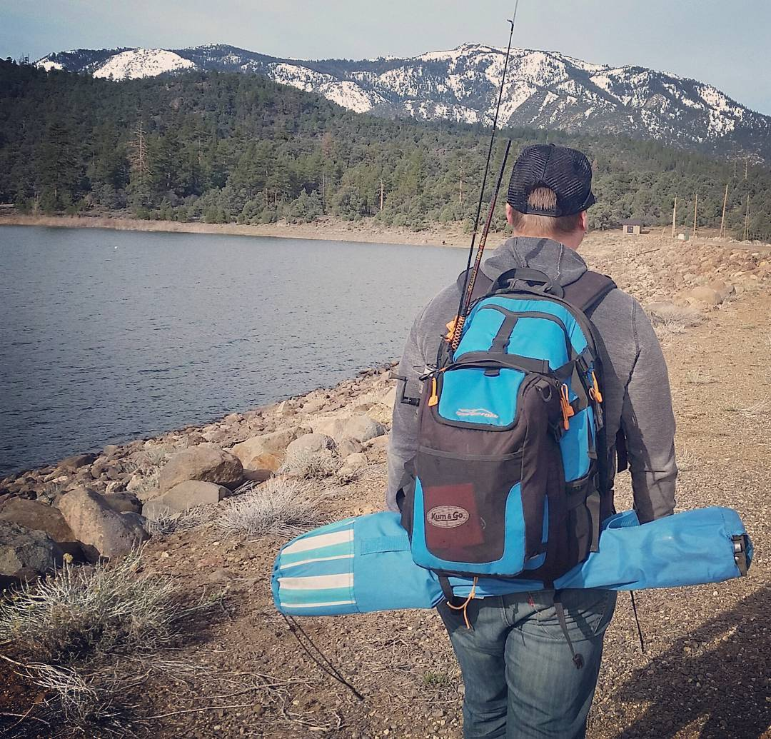 Fishing our little hearts out with the Cascade! #fishing #getoutside #handsfree #adventure #backpacks #coolers #graniterocx #outdoorsrocx