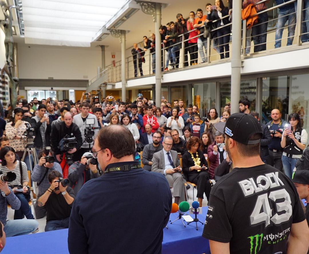 Lots of media and fans out here in Ourense, Spain yesterday, for our first @FIAWorldRX race this weekend. When can I do more car stuff?? Ha. #allinadayswork #stilllovemyjob