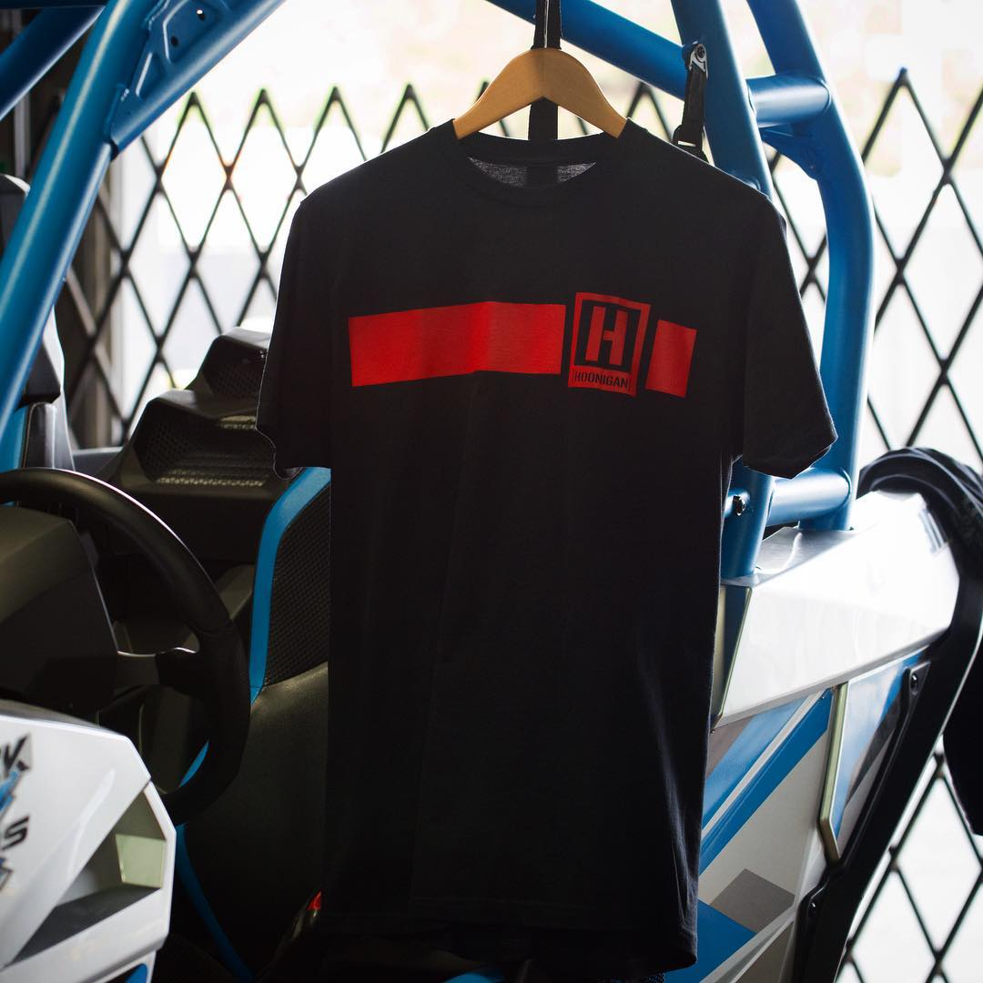 The Icon Stripe tee is now available in black/red and royal/white. Check out these, and more, on #hooniganDOTcom.