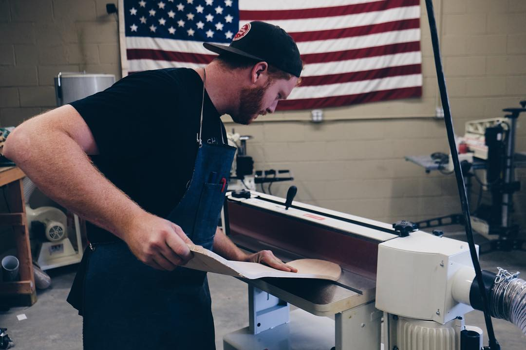 Each board made by hand in the good ole US of A.