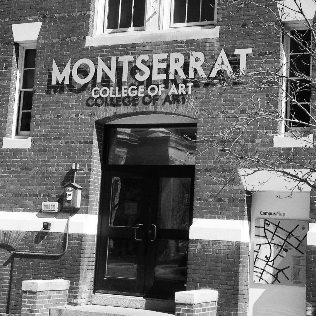 Honored to be asked to design, create and install a new entrance sign for @montcollegeart today. #montserratcollegeofart #montserrat #artschool #metal #sign #letters #typography #beverly #beverlyma
