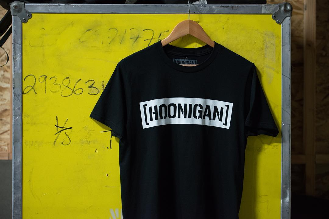 Our classic, the Censor bar tee, always hanging around the shop AND on #hooniganDOTcom. Stop in and check out what's new. #supporthooniganism