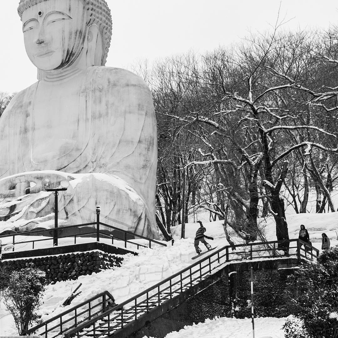 The Buddha Chronicles #7  The Buddha Chronicles is a photo story about the Flux Bindings team in Japan setting up and slaying the now infamous Buddha spot. Follow along as we tell the story and get a daily uplifting new quote from Buddha himself.  The...