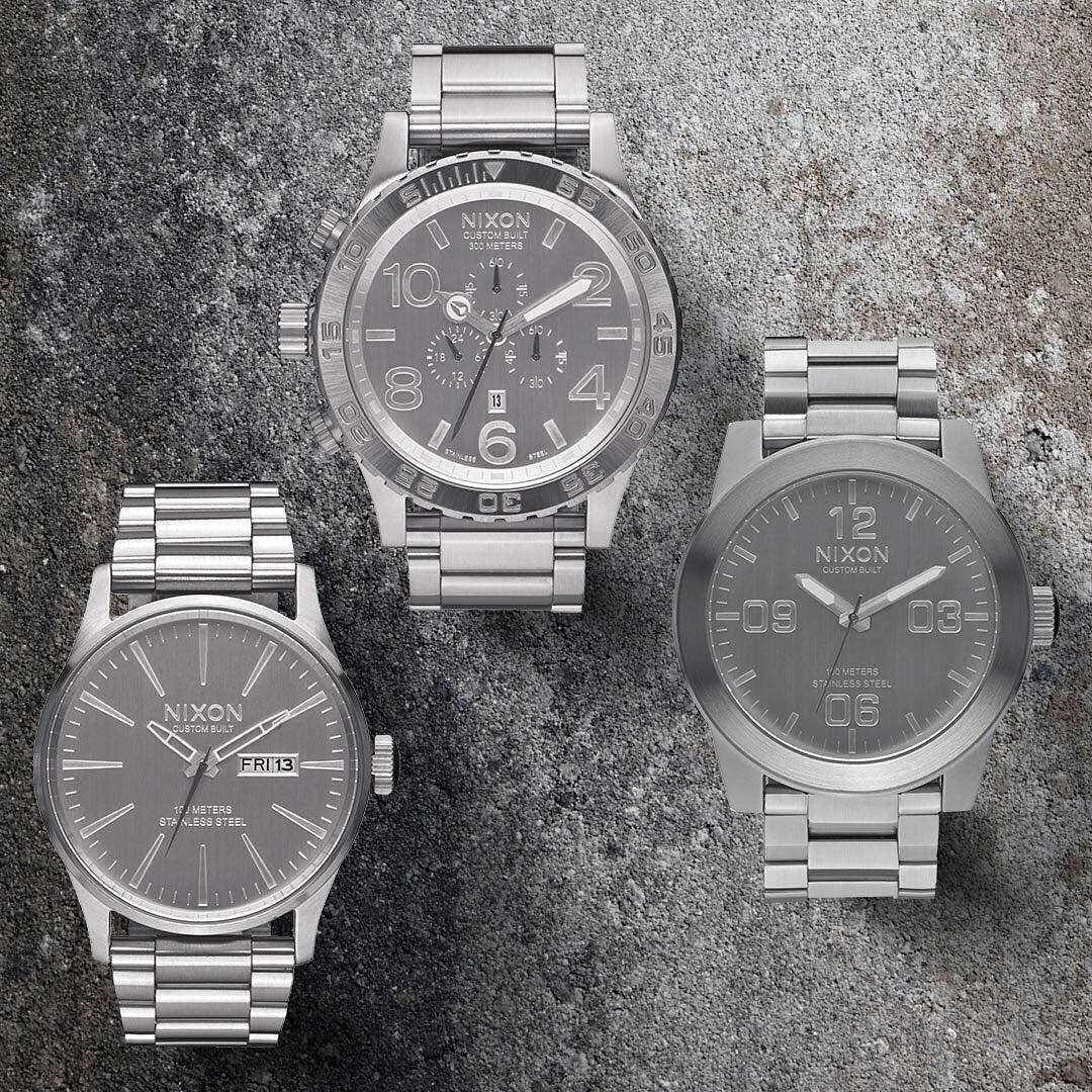 Welcome the second drop of the exclusive @activerideshop @thinkempire #Machined Collection. New, limited, and now available. Get them while you can. #Nixon