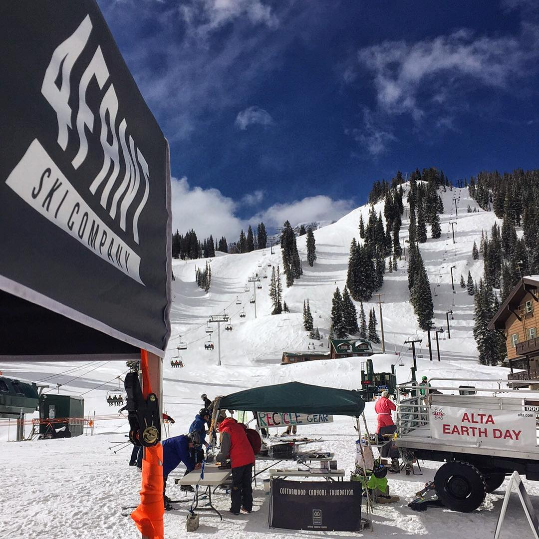 Get on up to @altaskiarea today. It's a beauty out here! Perfect spring day to celebrate #altaearthday and support a great cause. We've also brought our storefront right up on the hill and we're donating a portion of proceeds to this community and the...