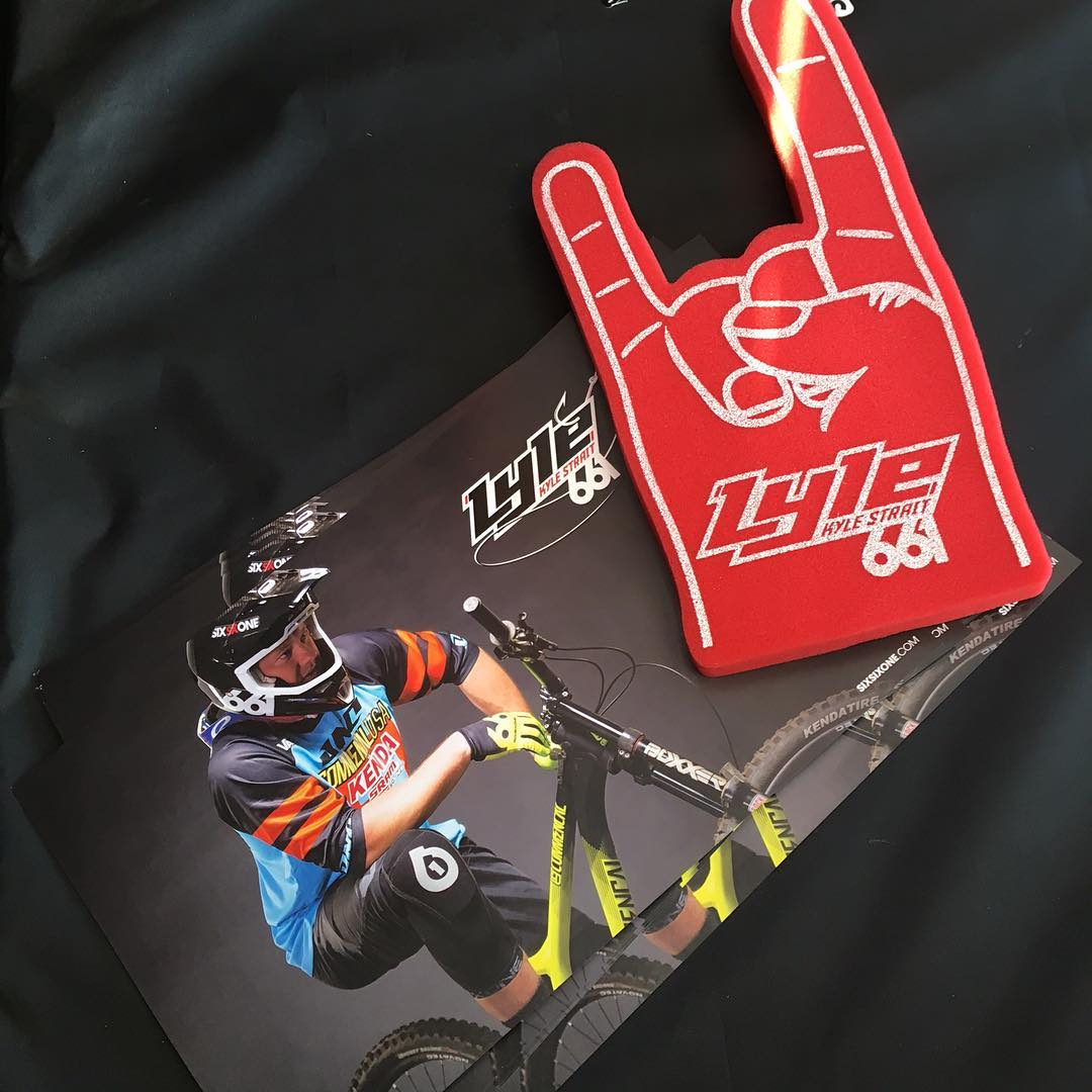 Stop by our #SeaOtter booth to grab the #Lyle Rock Hands to support Kyle Strait in the #DualSlalom Sea Otter Classic  #SixSixOne #661Protection #ProtectFun