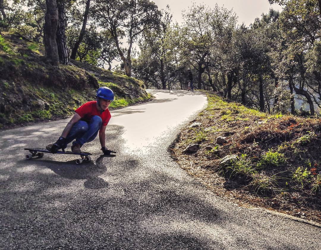 @GaetanRicord testing out some #divineberserkers  in the south of France! Photo by @AdrianCoispel #divinewheelco #divinewheels