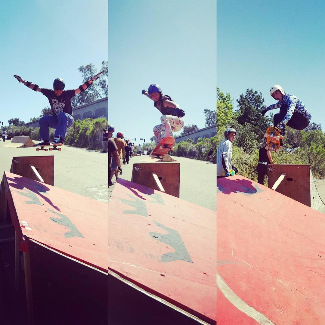 1 ramp, 3 Bonzing riders, 3 styles!  @muirskate  Downhill Disco!