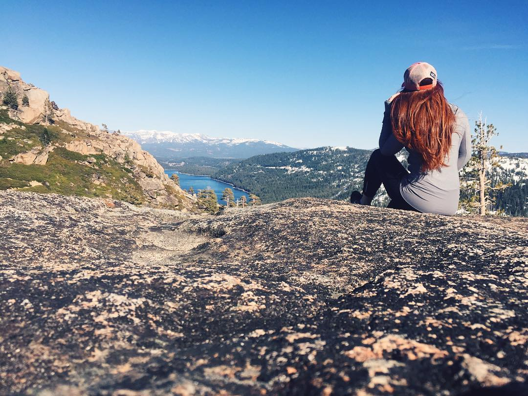 Oh, hey! I'm back! If you spend any time talking to me, within 10 minutes you'll hear me talk about Donner Summit! It's my favorite place in the whole world. Took a little trek up to my favorite viewpoint today...summer is so close!!! Wish you were...