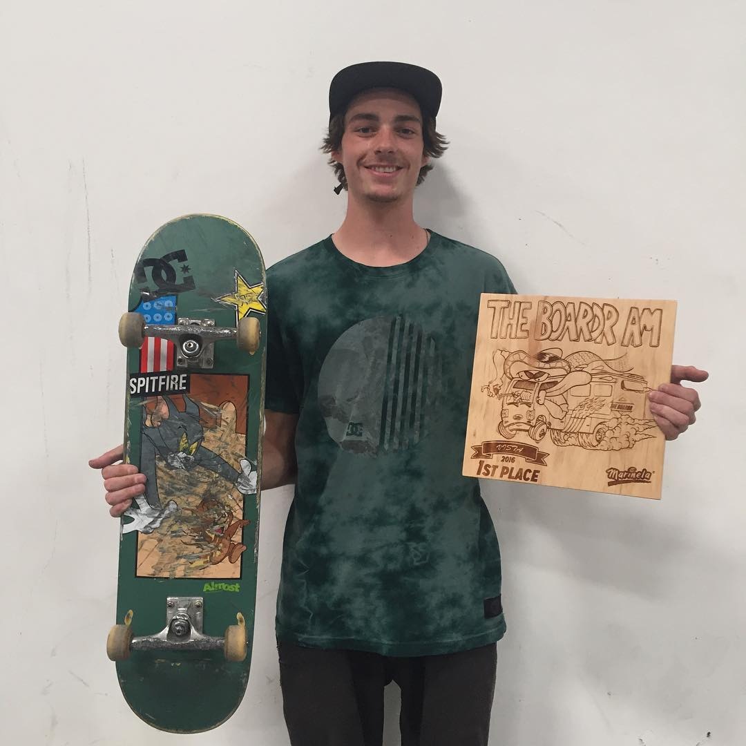 Congrats to @tysonbowerbank for winning #TheBoardrAm contest today! Photo: @mobiletang #DCShoes