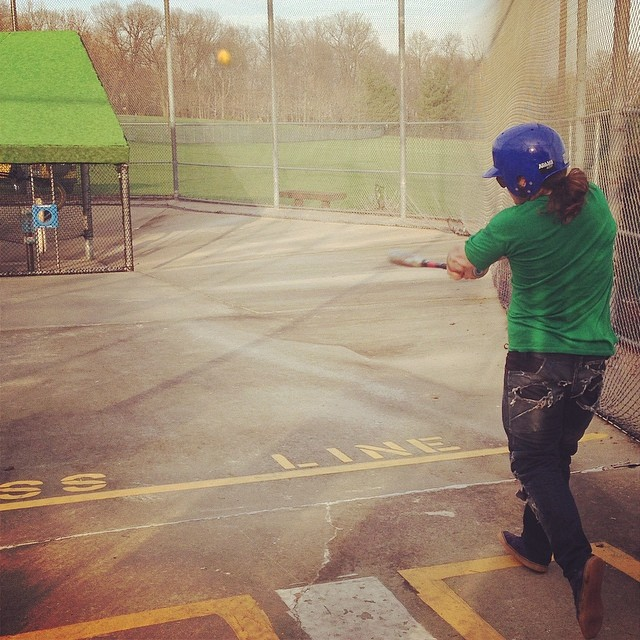 @nycl_sam  swingin for the fence! #amishdownhill skate trip at the batting cage! #nycl #pushculture