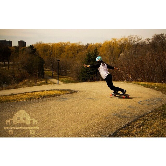 Looks like winter didn't affect @cindyzskates style one bit. Straight up killing it. Photo: @skateinvaders