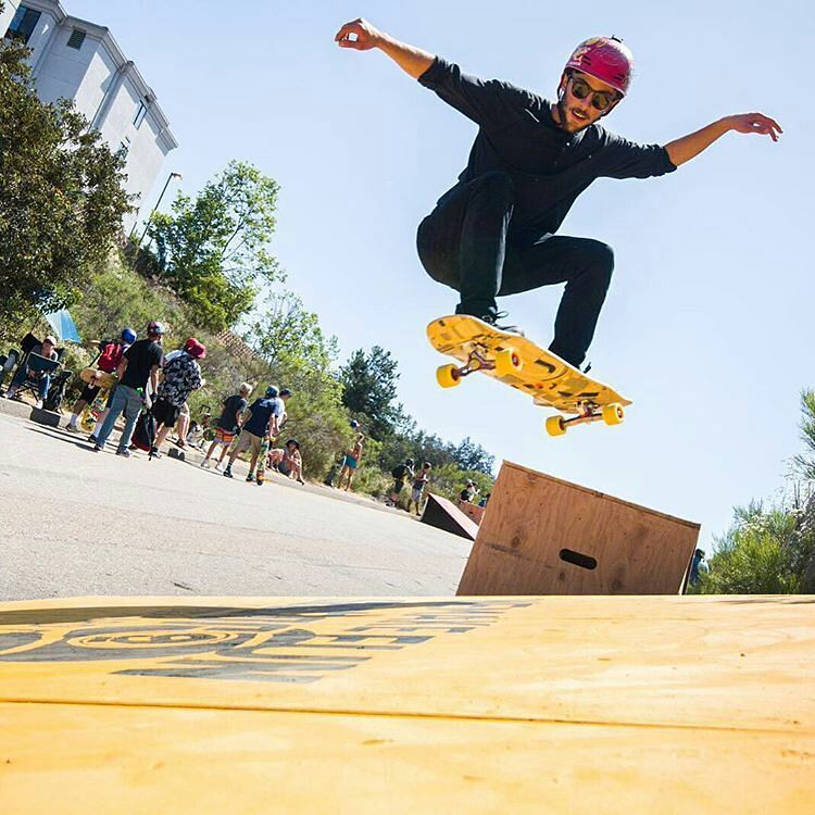 @Regrann from @orangatangwheels -  @muirskate #dowhilldisco is this weekend! If you're in the San Diego area come skate.  Here's #orangatangambassador @camilocespedes boosting out at last year's event.