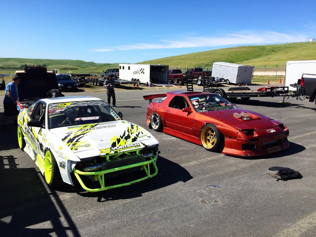 Good times out at @driftteamanimalstyle's #SuperDparty. These cars may have touched each other, really hard.