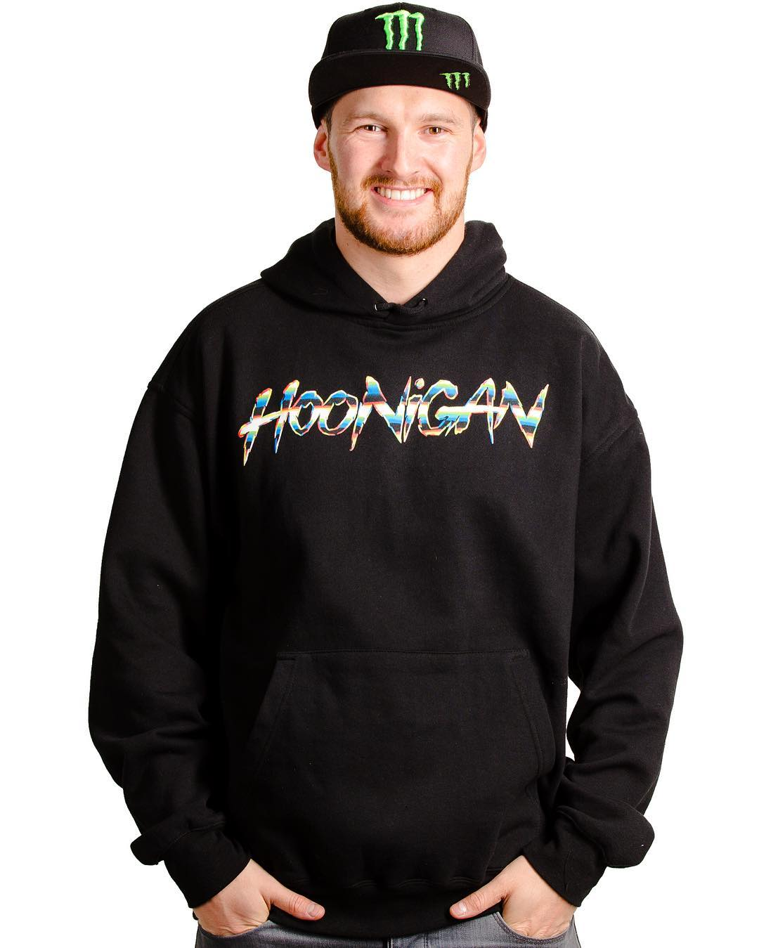 Our newest shedder, @andreasbakkerud, in the @felipepantone designed pullover hoodie. Complete collection available now on #hooniganDOTcom. Link in bio.