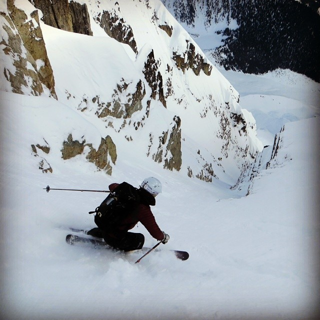 Kate Covello recently skiing Joffre Couloir in BC on some 184cm Trophy's. Thanks Kate!