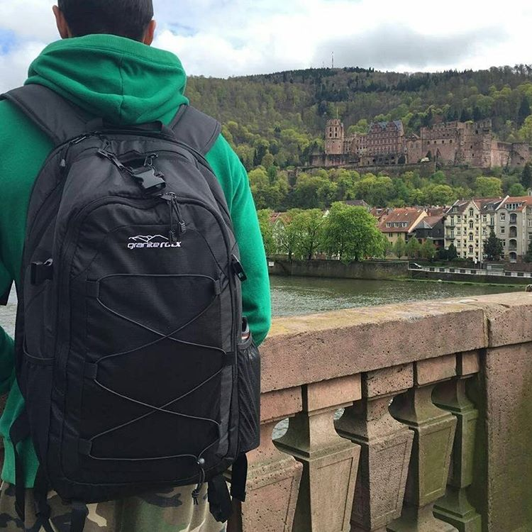 One of our amazing partners @bassano_baits showing off the Tahoe backpack in Germany!  Thanks guys! #getoutside #Germany #backpacks #graniterocx #outdoorsrocx