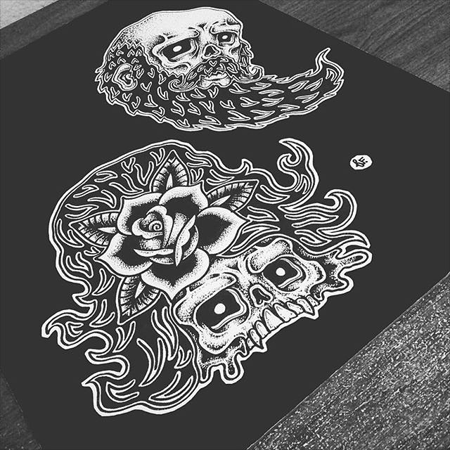 @mr.sloff • • #art #sloff #Spratx #sketch #skull #texas #tx