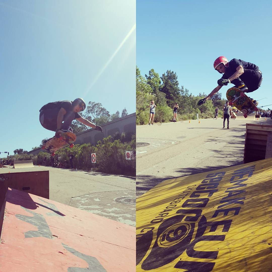 These two brothers, James Tracey--@deadbear13 and Sean Stratmeyer--@kurkylurk666 battled it out head to head and where flying down the course at the Downhill Disco!  #jamestracey #seanstratmeyer #superfatty #dakineskateboard #bonzing #muirskate...