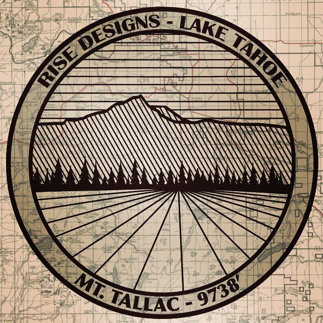 Can't believe it's Monday already. Hope you all got outside and enjoyed the great weather. Here's a little spinoff of our Mt. Tallac design. Maybe we will make some tshirts with this print one day. #risedesigns #risedesignstahoe #mttallac #tahoelife...