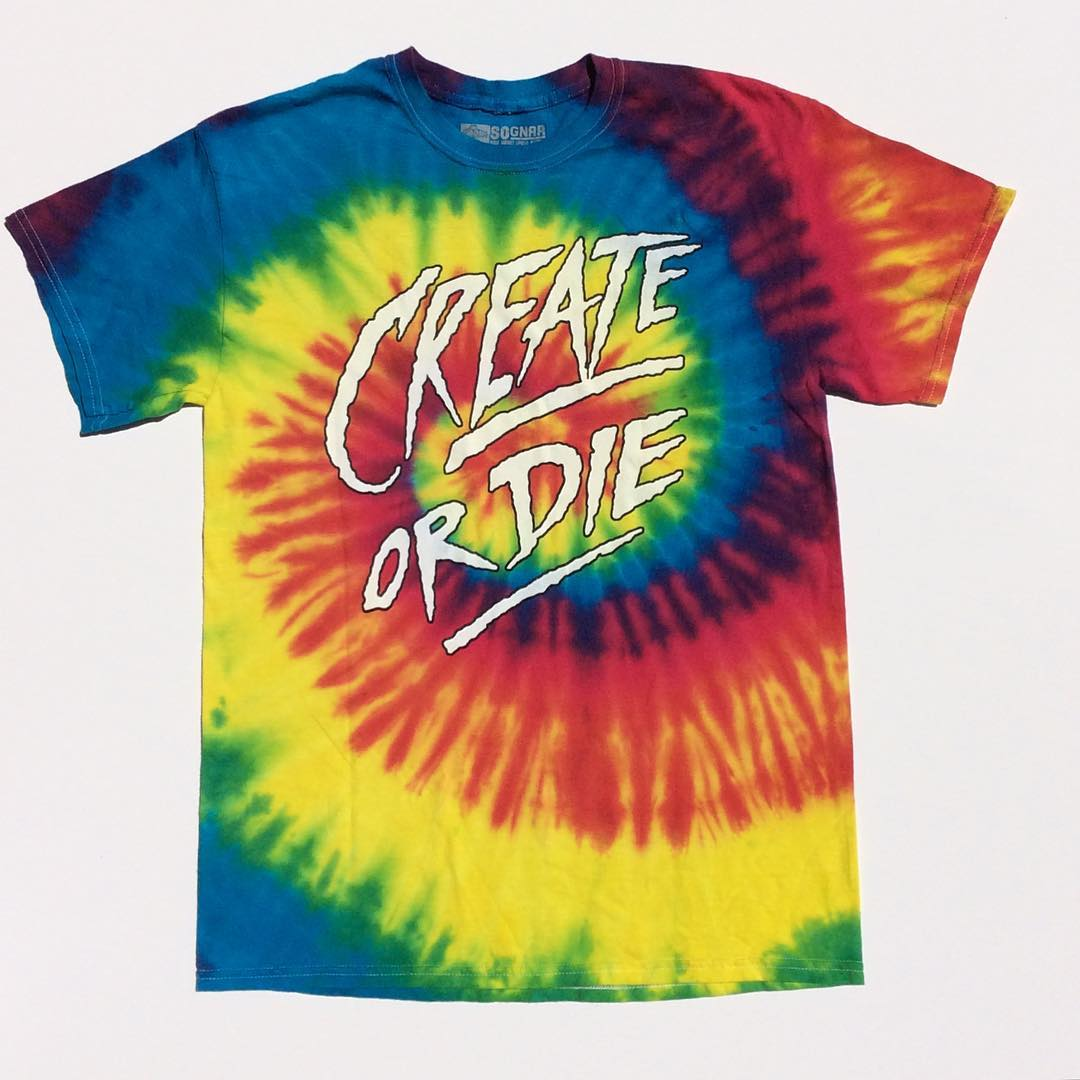 The Create Or Die tee is fresh for your spring adventures & available on so-gnar.com now ~⚡️~ [ link to purchase in bio ] #sognar #sognar #sognarforever #createordie
