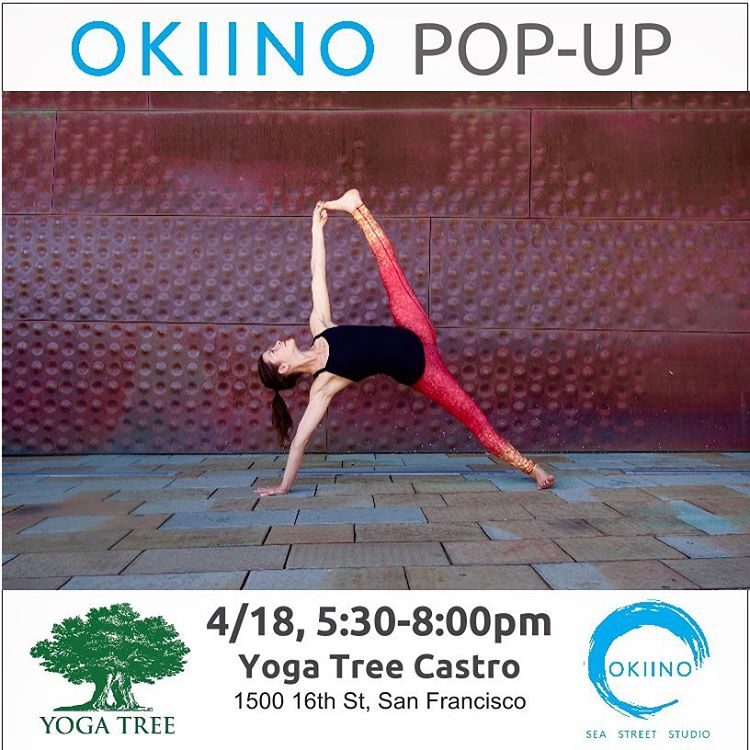 Join OKIINO founders for a special POP-UP event @yogatreesf Castro Studio TODAY from 5:30-8pm & again 5/14 for the Wanderlust Inspired Deep House Flow with OKIINO Ambassador, @lauraburkhartyoga #popup #shoplocal #yogatreesf #castro #ambassadorlove...