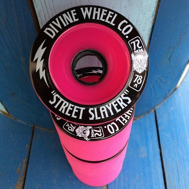 Thanks @ridewithus_longboard__shop for the love!  #divinewheelco #divinewheels #divinestreetslayers