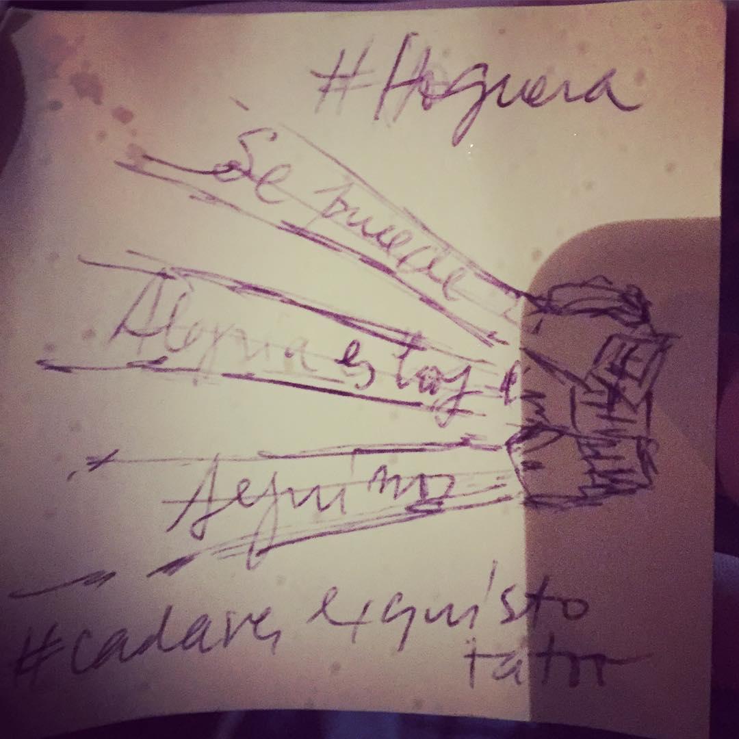 Construyendo el impacto! #cadaverexquisito #tatoo #hoguera cc @disruptivox