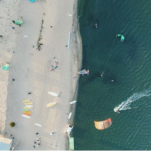 Here is where we start // #kitesurf & #windsurf sails become alive as the wind and the sea.