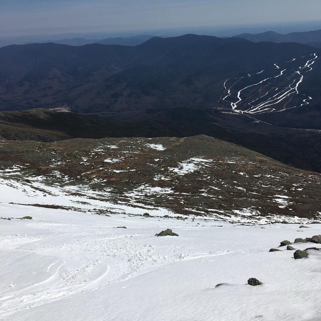 Enjoyed a #beachday on the snowfields of #mountwashington!  Who needs a #chairlift?  #earnyourturns #rockpile #forty4 #livefreeordie